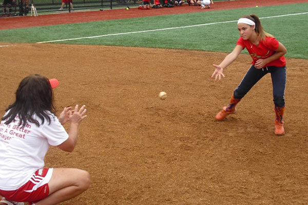 Summer Softball Camp - Girls Softball Soft Toss Mount Ida College