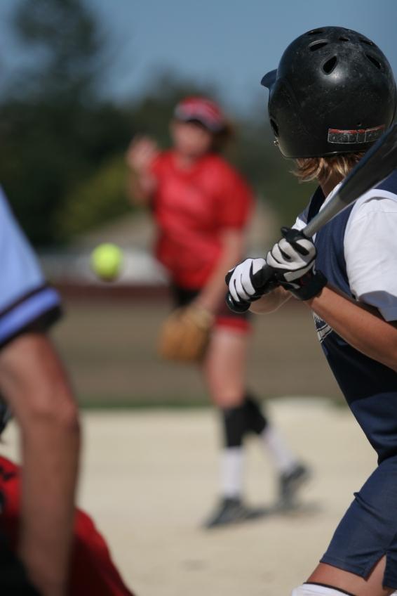 Softball Clinic - Girl At Bat