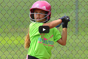 Summer Softball Camp - Girl Batting Practice