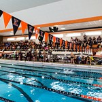 01/19/13 - Kalamazoo, MI:  Kalamazoo College Swimming and Diving vs Alma.  The men defeated Alma 133-78.  The women won 135.5-87.5.  © Chris McGuire Photography.