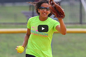 Softball Training - Ready to Throw