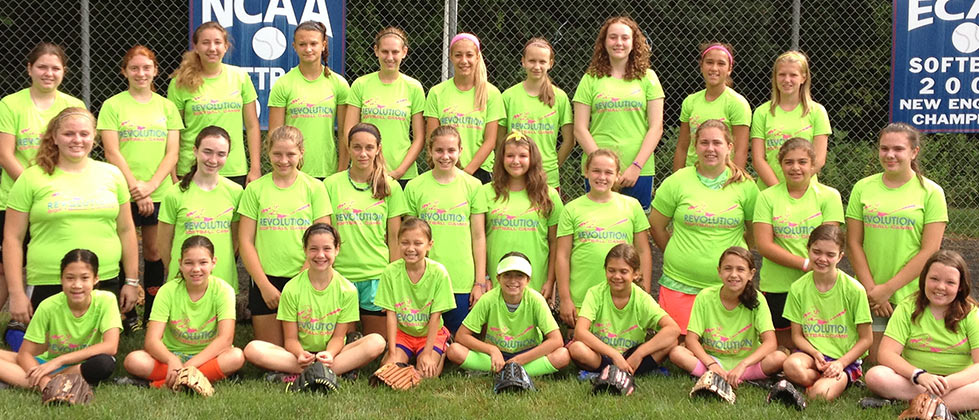 Summer Softball Camp - Girls Softball Group Pic